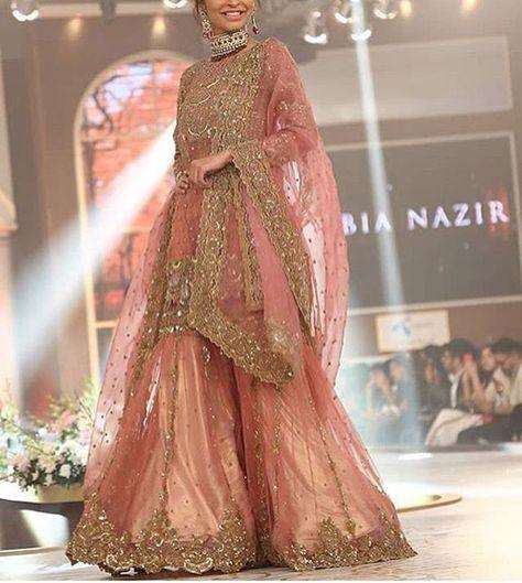 Latest Pakistani Engagement Dresses Collection For Bride