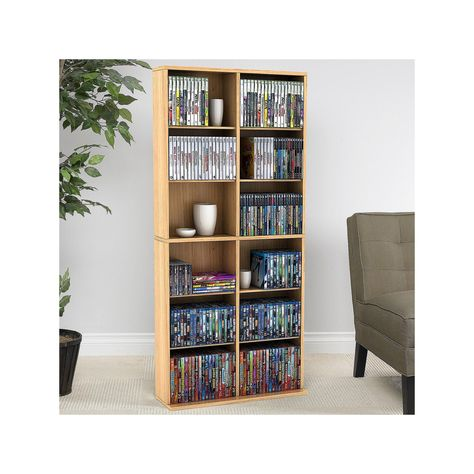 Atlantic Oskar 464 Multimedia Storage Cabinet Brown Wall