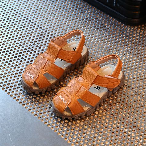 Soft leather summer the new boys beach sandals   Sharp&