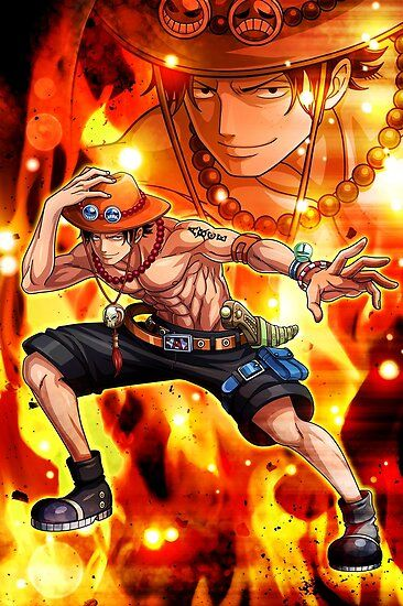 Portgas D Ace One Piece Poster Trong 2020 Hinh Áº£nh Hinh Xăm Ä'oi Canh One Piece