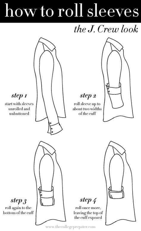 Practical and Very Amazing Ways To Rolling Up Your Sleeves