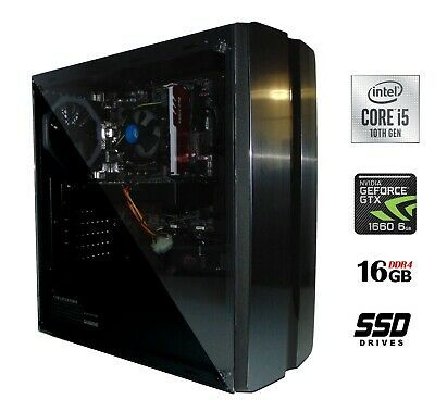 Newest Desktop Pc 10th G Intel I5 10400 16gb Nvidia Gtx 1660 128gb Ssd 1tb Hdd In 2020 Nvidia Hard Drive Storage Video Card