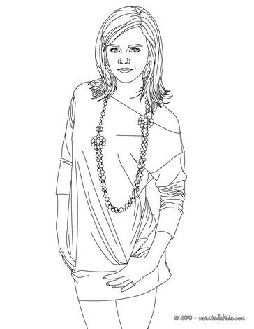 Demi Lovato posing coloring page. More famous people coloring sheets ...