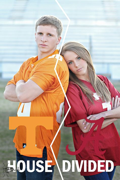 House Divided Engagement Session.  Tennessee vs. Alabama.  Brittany Toomey Photography.  Athens, TN