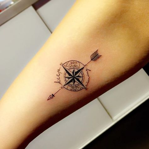Image result for color compass tattoo on wrist  Tattoo ideen