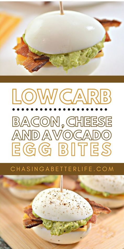 These Easy Low Carb Bacon, Cheese and Avocado Egg Bites make going keto so easy! These are a hit for snacking, breakfast and even appetizers! They devour them for game-day apps!