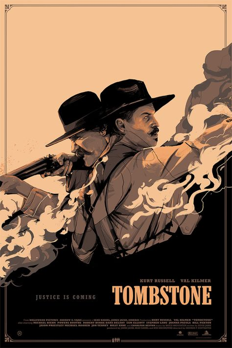 Tombstone by Oliver Barrett - Home of the Alternative Movie Poster -AMP-