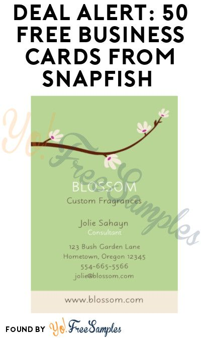 Deal Alert 50 Free Business Cards From Snapfish Only 3 99 Shipping Yo Free Samples Free Business Cards Custom Business Cards Cards