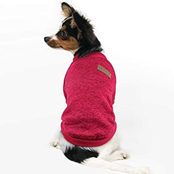 M, Wine Red, Light Blue, Rose Red, Navy Blue 4 Pieces Dog Sweater Winter Pet Clothes Cozy Dog Outfit Soft Cat Sweater Dog Sweatshirt for Small Dog Puppy Kitten Cat