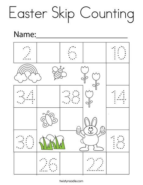 Easter Skip Counting Coloring Page Twisty Noodle Coloring Pages Easter Coloring Pages Holiday Lettering