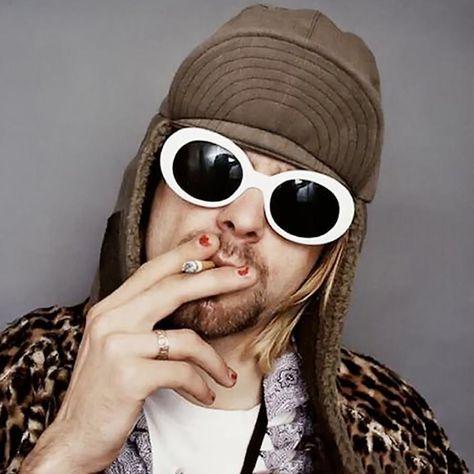 Vintage Style Trendy Pop Fashion Kurt Cobain Nirvana Men Women Round Sunglasses