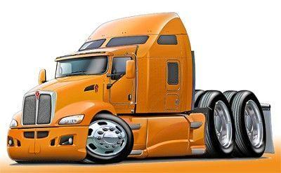 Kenworth 660 Semi Truck Art Print New Cartoon Drawings Semi Trucks