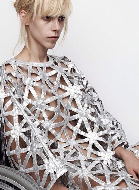 geometric pattern, silver finish