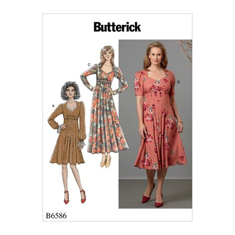 e2fa753fdc4 Butterick 6586 Misses  Dress sewing pattern