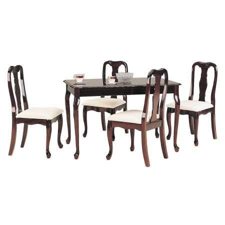 Acme Furniture Queen Anne 5 Piece Rectangular Dining Set