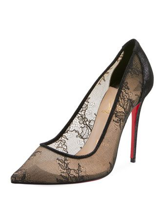 free shipping b5cf7 46ce3 Lace 100mm Red Sole Pumps | WANT/WISH LIST!!! | Christian ...