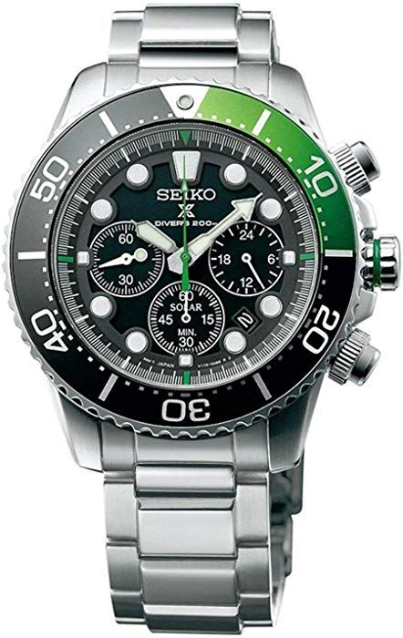 Amazon.com: SEIKO Prospex Sea Diver's 200m Chronograph Solar Sports Watch Green SSC615P1: Seiko: Watches