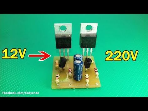 How To Make Simple Inverter 12v To 220v Using C1815 Transistor