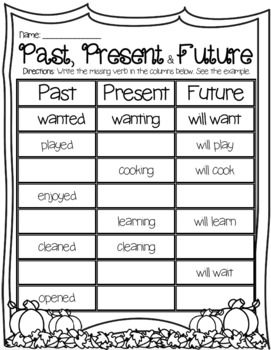 Regular And Irregular Verb Tenses Past Present Future Verbs