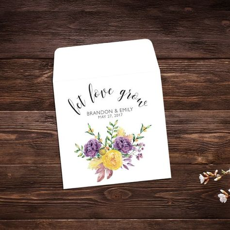 Seed Packet Favors, 25 Let Love Grow Favors, #seedpackets #seedfavors #weddingfavors #weddingseedfavor #weddingseedpackets #seedpacket #weddingfavor #seedfavor #seedpacketenvelope #seedpacketfavor #wildflowerseeds #bridalshowerfavor #letlovegrowfavor