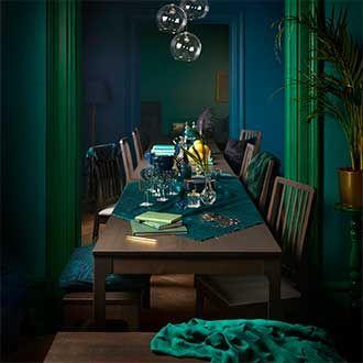 nouveautes salle a manger verte