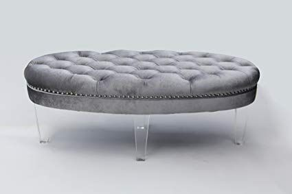Awe Inspiring Image Result For Tufted Ottoman Light Gray Acrylic Legs Creativecarmelina Interior Chair Design Creativecarmelinacom