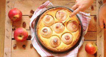 bratapfelkuchen mit quark