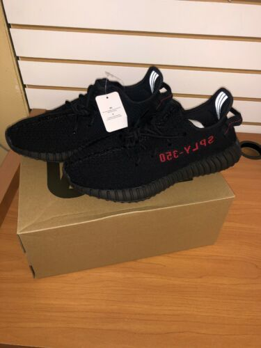 Adidas Yeezy Boost 350 V2 Bred Black Red Core Sply Kanye West Size