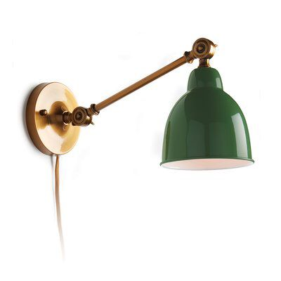 Auden Swing Arm Lamp In 2019 Plug In Wall Sconce Wall
