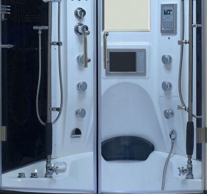 Aqua Brand New White Steam Shower Whirlpool Bathtub With Massage In 2020 Steam Showers Steam Shower Units Whirlpool Bathtub