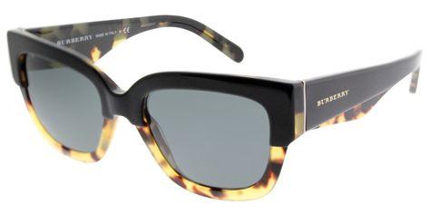 d9b204295d5 Burberry BE 4252 364987 Top Black On Havana Square Plastic Sunglasses - 53mm
