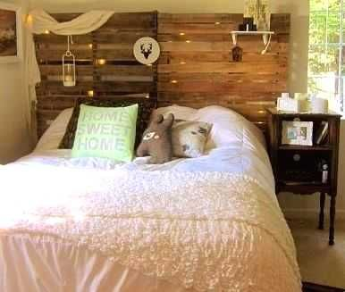 Concept From Wood Crate Bed Frame An Gorgeous Ideas Singlebed Bedroom Bedroomdecor Bedroomideas Pallet Bed Frames Pallet Wood Headboard Pallet Headboard