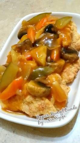 Resep Ayam Koloke : resep, koloke, Resep, Koloke, (Saos, Manis), Syifa, Ayam,, Makan, Malam,, Masakan
