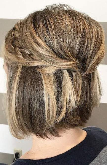 Super Wedding Hairstyles For Bridesmaids Short Hair Updo Up Dos Ideas Short Wedding Hair Short Hair Lengths Thick Hair Styles