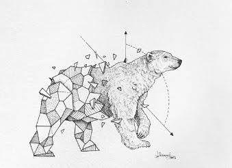 Tattoos Geometric Minimalist Animal In 2020 Polar Bear Tattoo Geometric Bear Geometric Bear Tattoo