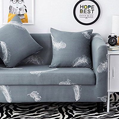 Amazon Com Hysenm 1 2 3 4 Seater Sofa Cover Home Decor Stretch Elastic Slipcover Couch Cover Feather 3 Seater 190 Sofa Covers Corner Sofa Covers Simple Sofa