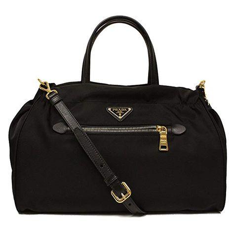 273a31937 Prada Tessuto Saffian Nylon and Leather Shopping Tote Bag B1843M,  Black/Nero #bolsa #bolso #cartera #bolsomoda #bolsadedama #bolsodedama  #bolsodemujer ...