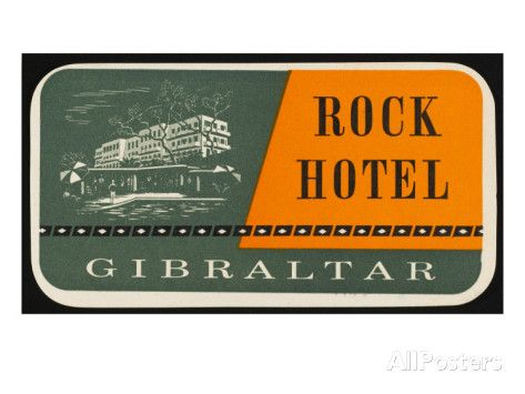 Label for the Rock Hotel, Gibraltar Giclee Print - AllPosters.co.uk