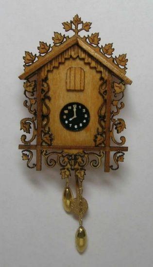 Mini Cuckoo Clock Kit Dollhouse Miniature Cuckoo Clock Kit Lb180