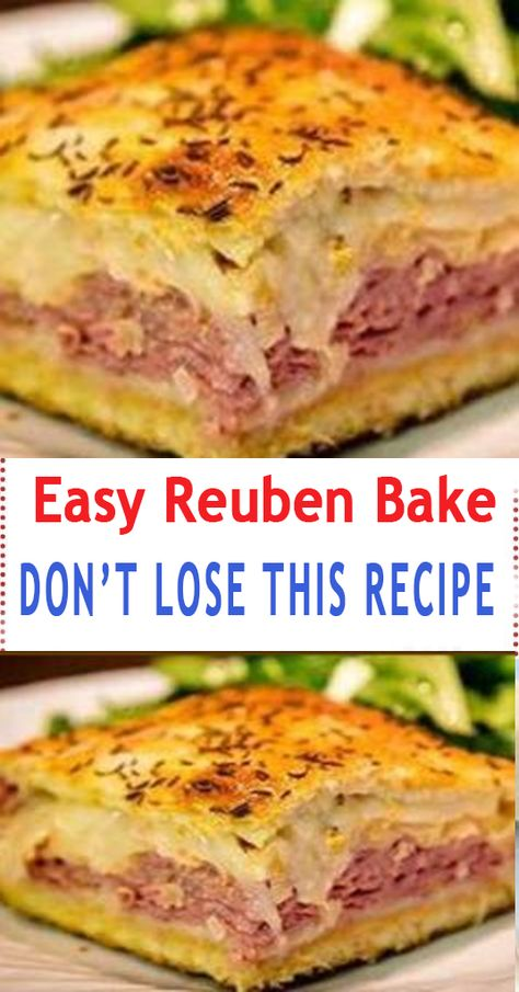 You'll Need: 2 tubes ounces each) of refrigerated crescent rolls. 1 pound of sliced swiss cheese. pounds of sliced deli corned beef. 1 can ounces) rinsed and drained sauerkraut. cup of Thousand Island salad dressing. 1 lightly Read more. Corned Beef Recipes, Meat Recipes, Appetizer Recipes, Dinner Recipes, Cooking Recipes, Appetizers, Recipies, Canned Corned Beef, Dinner Ideas