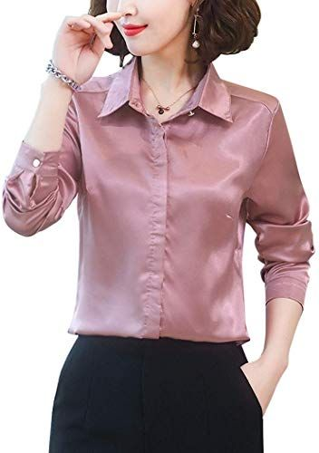 New Women S Silk Blouse Long Sleeve Lady Shirt Casual Office Work Blouse Shirt Tops Online Shopping Thetophitsseller In 2020 Womens Silk Blouses Womens Long Sleeve Shirts Ladies Tops Fashion