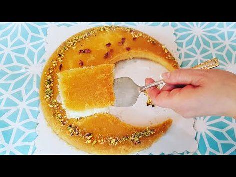 كنافة بالكريمة على شكل هلال رمضان رشا الشامى Youtube Food Appetizers Fruit