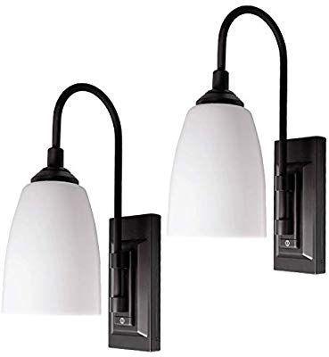 Westek Battery Operated Wall Sconces 2 Pack Chrome Finish Easy Wireless Installation 4 Hour In 2020 Battery Operated Wall Sconce Wireless Wall Sconce Wall Lights