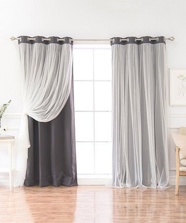Look What I Found On Zulily Dark Gray Tulle Overlay Blackout
