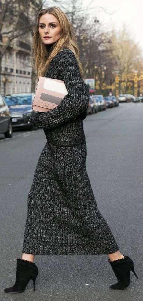 la vendita di scarpe più popolare scarpe a buon mercato Gonna lunga in lana | Moda casual invernale, Stile di moda e Look ...