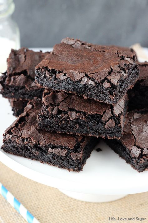 Easy from scratch Brownies! Just like a box mix! More than 1.3k pins!