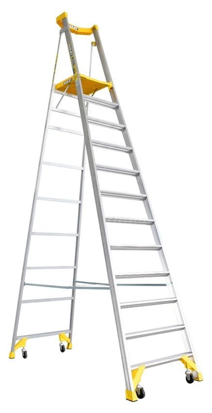 Bailey 12 Step Platform Ladder P170 3 49m In 2020 Platform Ladder Ladder 12 Step