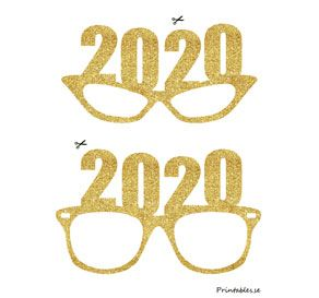 Photo Booth Props Golden New Years Eve Glasses For Free Printable For New Yea Photo Booth Props Free New Years Eve Invitations New Years Eve Decorations