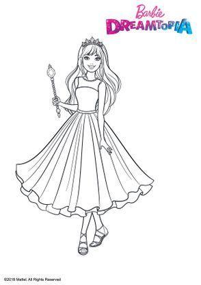 Barbie Princesse Pailletes Coloriage Barbie Coloriage Coloriage Dessin Anime
