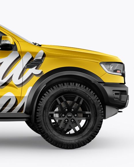 Download Pickup Truck Mockup Side View In Vehicle Mockups On Yellow Images Object Mockups In 2020 Mockup Psd Mockup Free Psd Mockup Downloads PSD Mockup Templates
